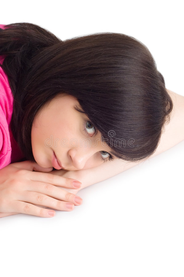 Download Teenager lying on floor stock photo. Image of relaxation - 8158242