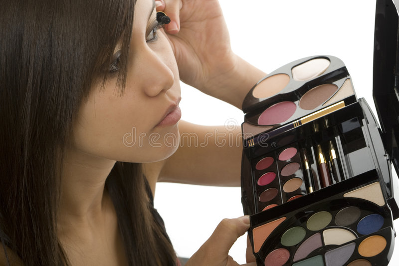 Teenager make up stock photo
