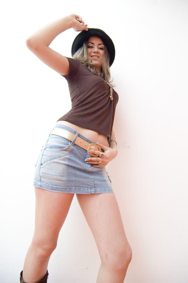 Teenager In Miniskirt Stock Photos