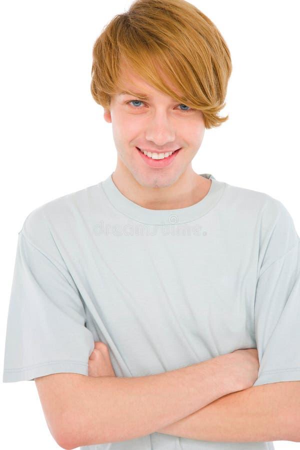 Teenager mit den Armen gefaltet stockfoto