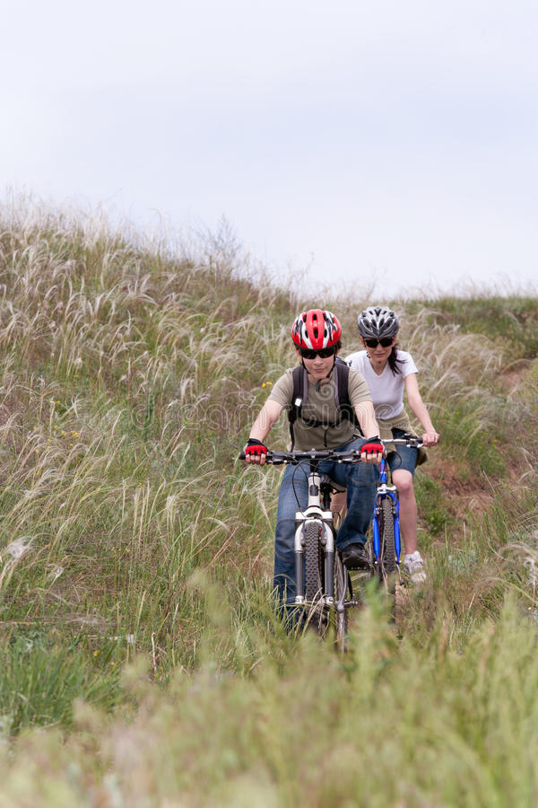 Teenager On The Mountain Bike Stock Photography
