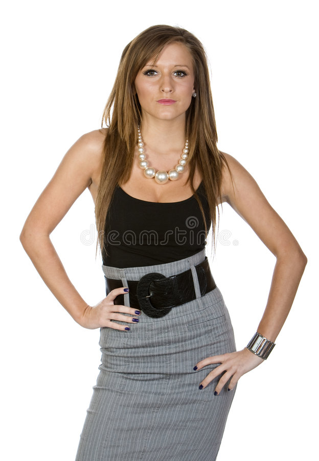 Teenager in Office Attire. Shot of a Teenager in Office Attire stock photography