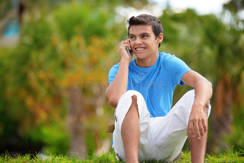 Teenager On The Phone Stock Photo