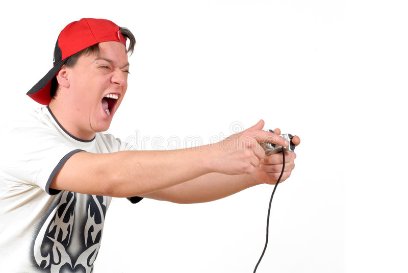 Download Teenager playing game stock photo. Image of shouting, teenager - 3161796