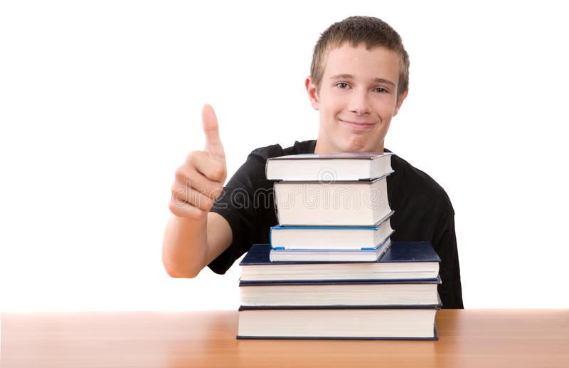 Teenager preparing to school royalty free stock photos