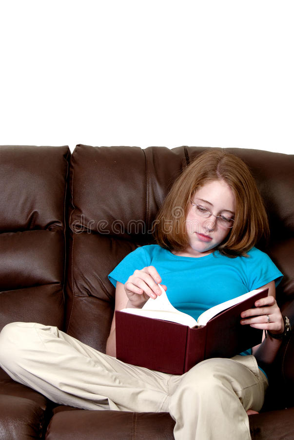 Download Teenager Reading a Book stock image. Image of girl, child - 15900573