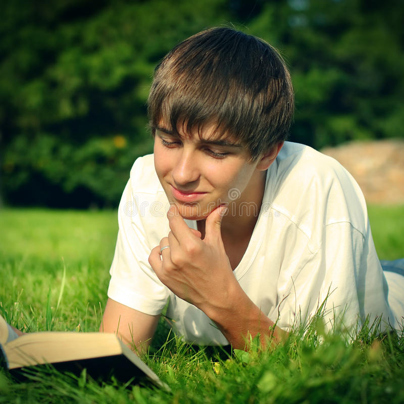 Download Teenager reads a Book stock photo. Image of interest - 35769580
