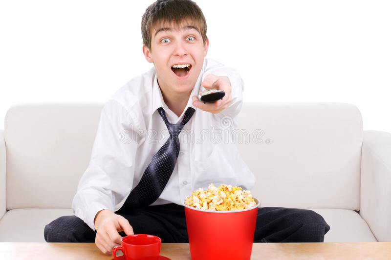Download Teenager With Remote Control Stock Image - Image: 27687235