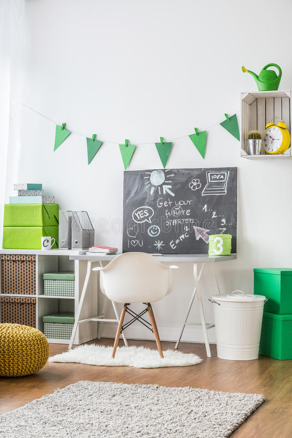 Teenager room decor ideas. Tips and inspirations to decorate teenager's room stock photos