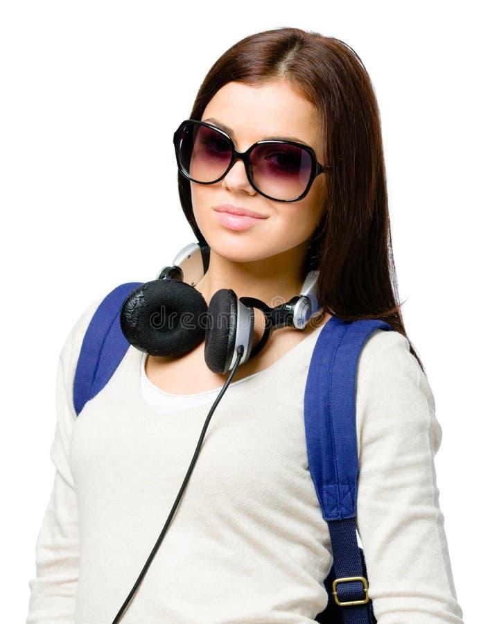 Download Teenager With Rucksack And Earphones Stock Photo - Image: 33585236
