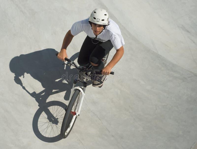 Teenager at Skateboard Park stock photography