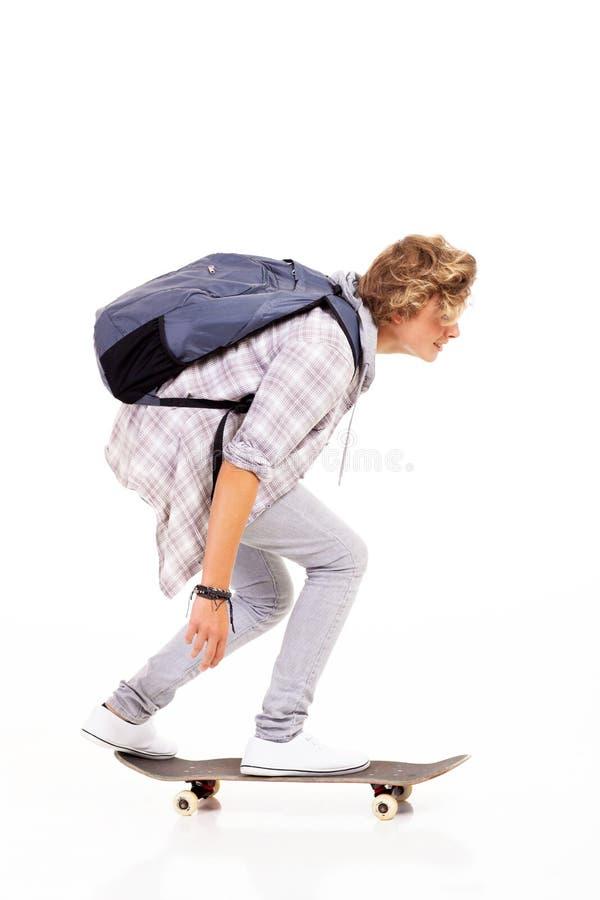 Teenager Skateboarding stockbilder