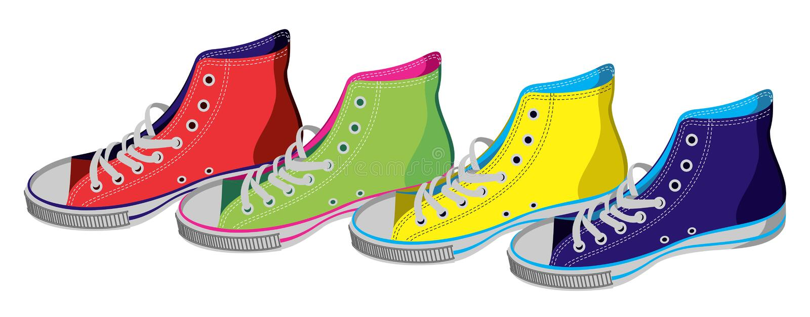 Download Teenager sneakers isolated stock vector. Image of retro - 21176444