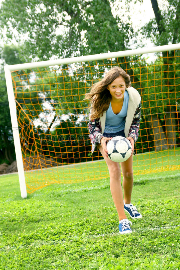 Download Teenager And Soccer Stock Image - Image: 15271541