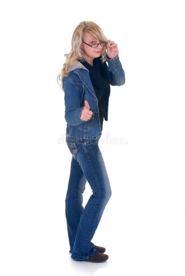 Teenager student okay gesture royalty free stock photos