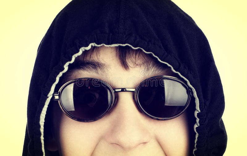 Teenager in Sun Glasses stock images