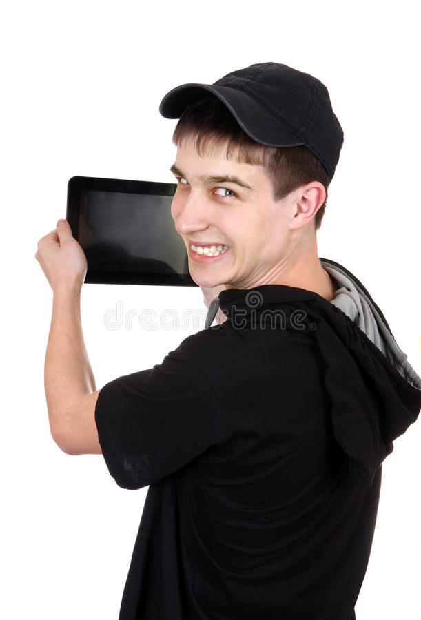 Download Teenager With Tablet Computer Stock Photo - Image: 39096044