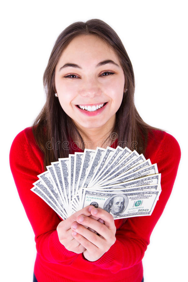 Download Teenager Thrilled With Money Stock Image - Image: 24333421