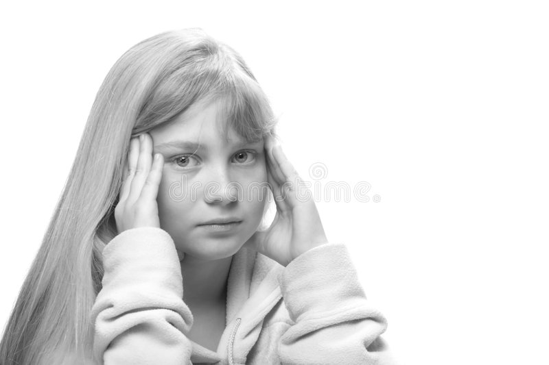 Teenager tired of morals stock images