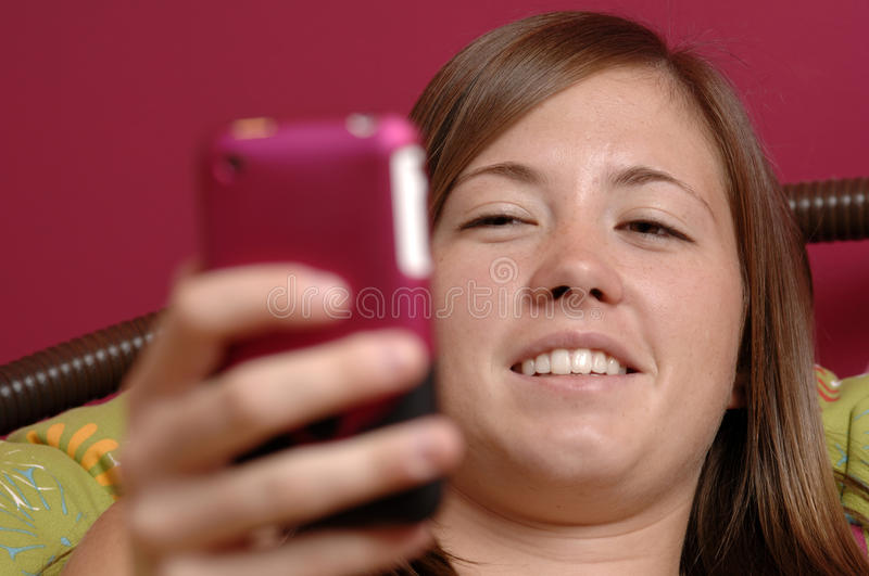 Download Teenager Using Mobile Phone Stock Image - Image of colorful, fresh: 15456913