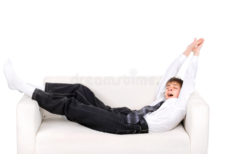 Teenager wake up royalty free stock photo