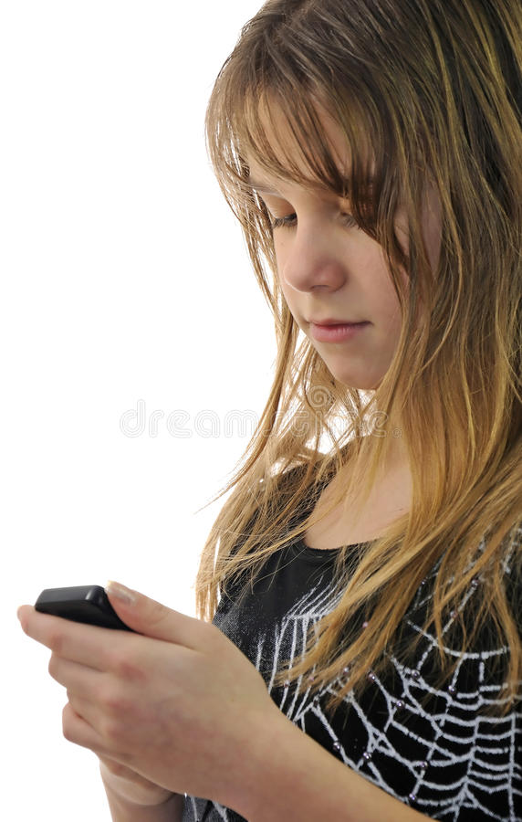Download Teenager writing sms stock image. Image of portrait, caucasian - 17782523
