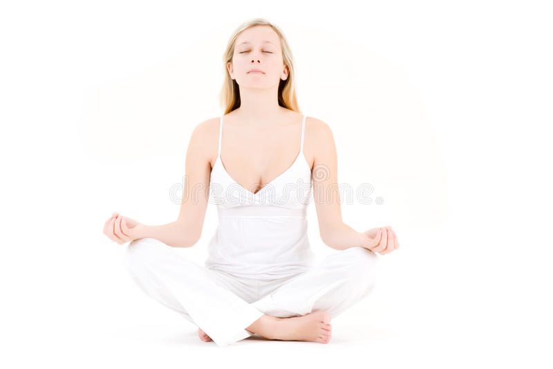 Teenager in yoga pose