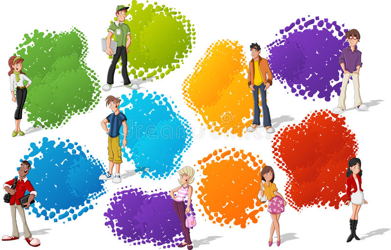 Download Teenagers stock vector. Image of businessman, character - 27269515