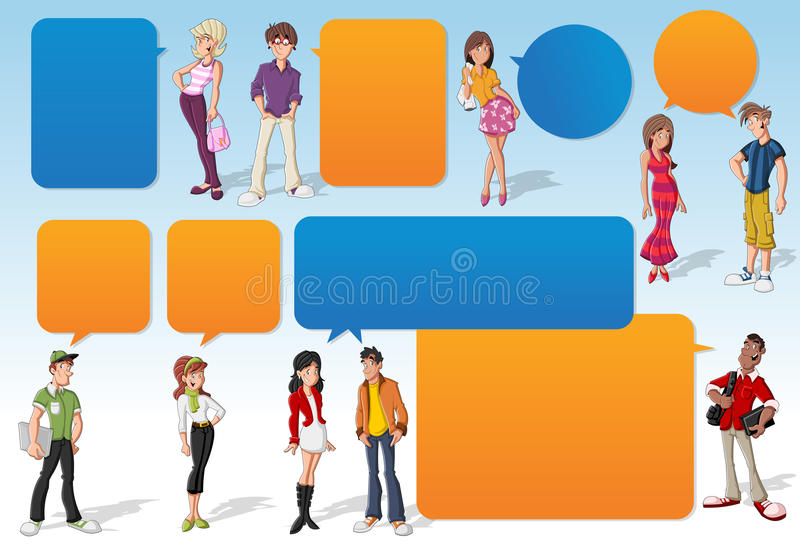 Teenagers. royalty free illustration