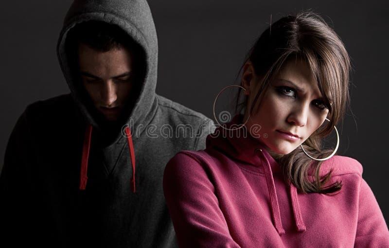 Download Teenagers Against Dark Background Stock Image - Image of dark, studio: 25719709