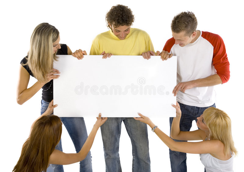 Download Teenagers with board stock photo. Image of handsome, display - 2865796