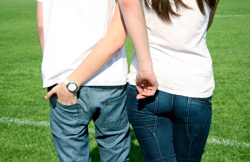 Teenagers couple royalty free stock photos