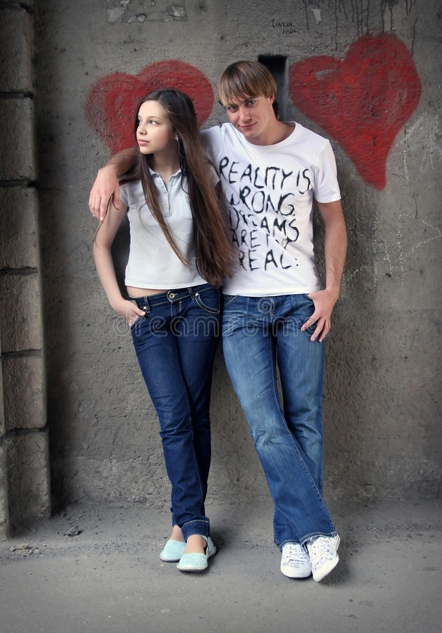 Download Teenagers couple stock image. Image of grey, hand, love - 9679273