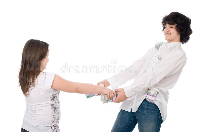 Download Teenagers divide money stock photo. Image of have, hold - 24675954