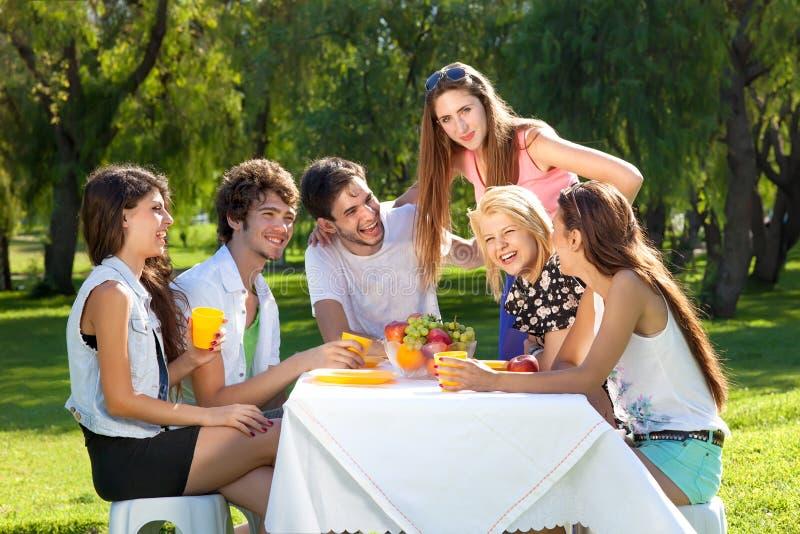 Teenagers enjoying their summer vacation royalty free stock photos