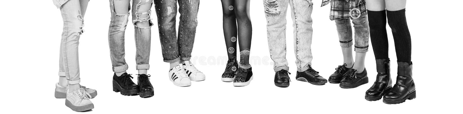 Teenagers girls have fun together with bubble isolated on white background. Teenagers lifestyle casual culture style concept royalty free stock photography