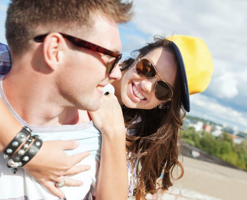 Download Teenagers Having Fun Outside Stock Photo - Image: 34104718