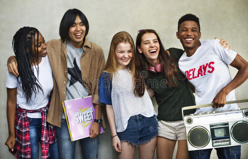 Teenagers Lifestyle Casual Culture Youth Style Concept royalty free stock photo
