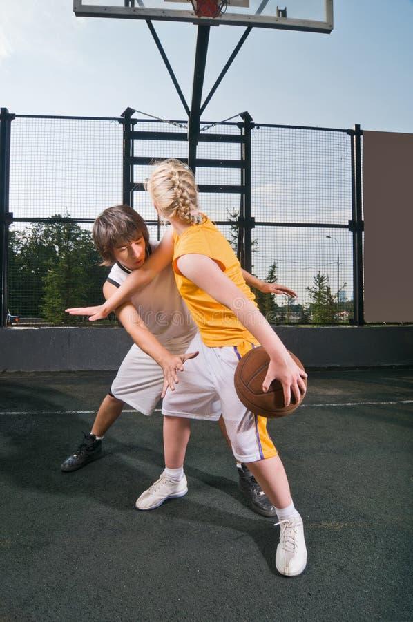 Download Teenagers Playing Basketball Stock Image - Image: 15256713