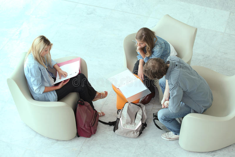 Download Teenagers revising stock image. Image of blond, hair - 27579041