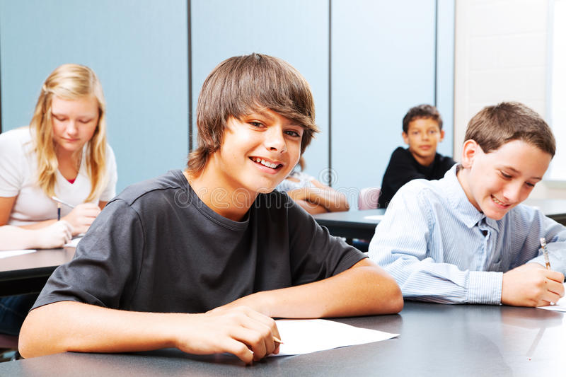 Teenagers in School stock images