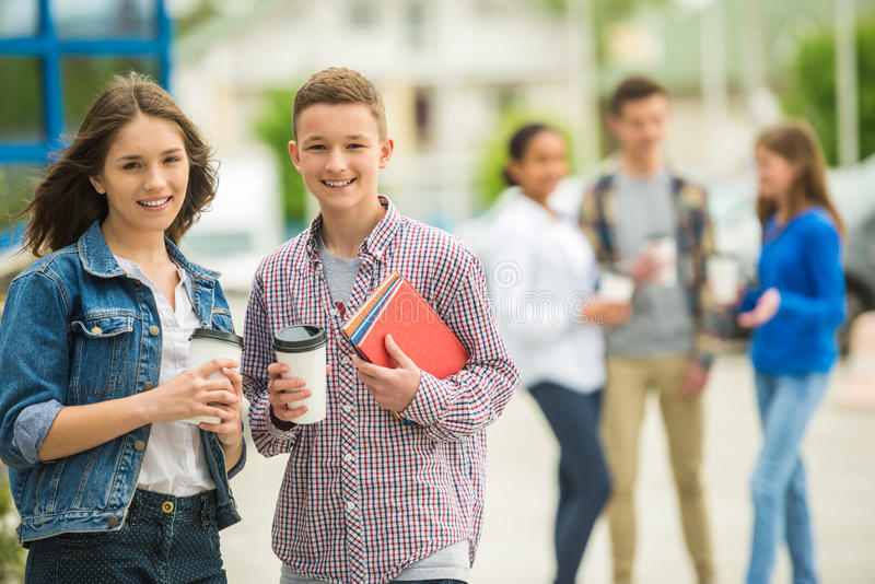 Teenagers royalty free stock image