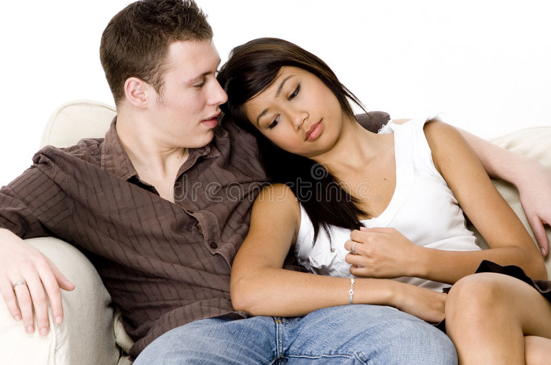 Download Teens stock image. Image of young, sofa, embrace, asian - 1118273