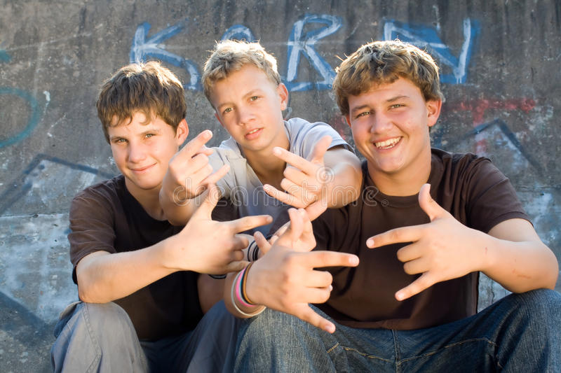 Teens stock images