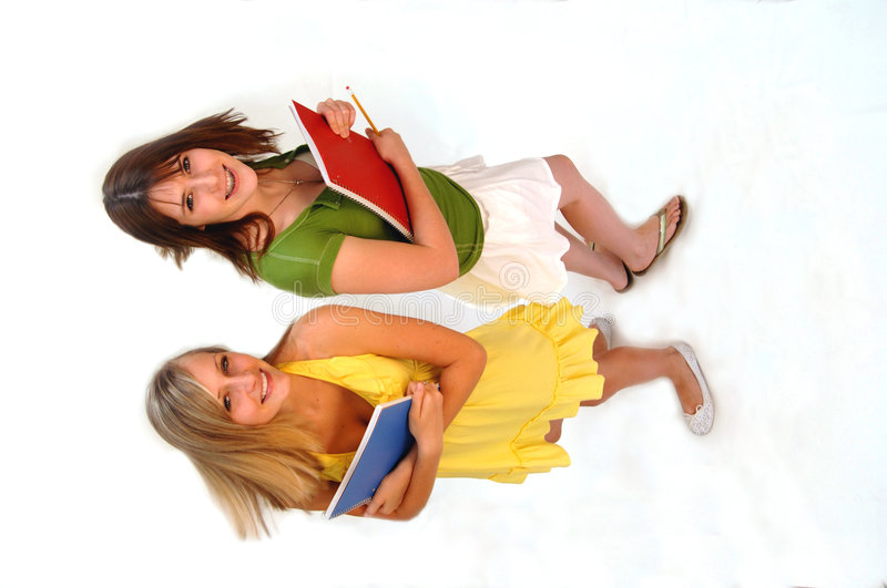 Teens back to school royalty free stock images