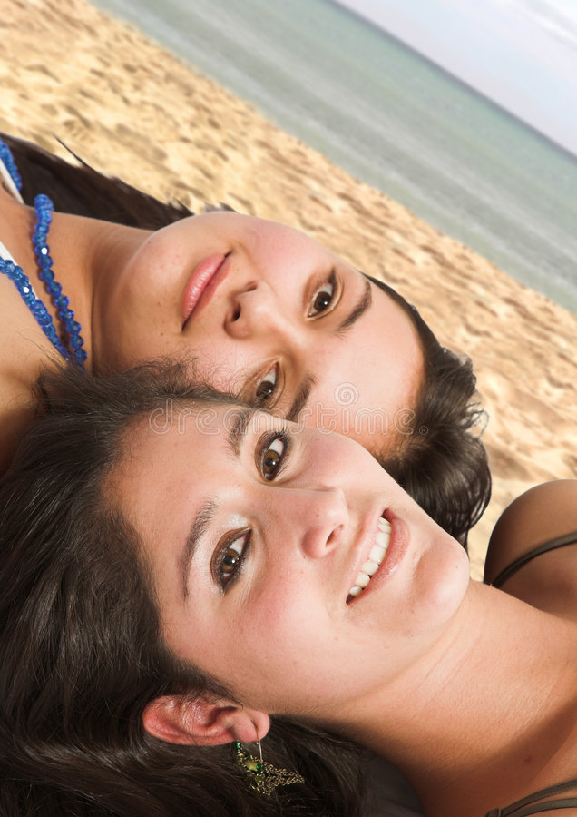 Download Teens at the beach stock image. Image of flirting, coast - 1070921
