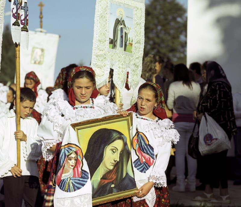 Teens celebrating saint mary
