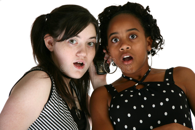 Teens and Cellphones stock image