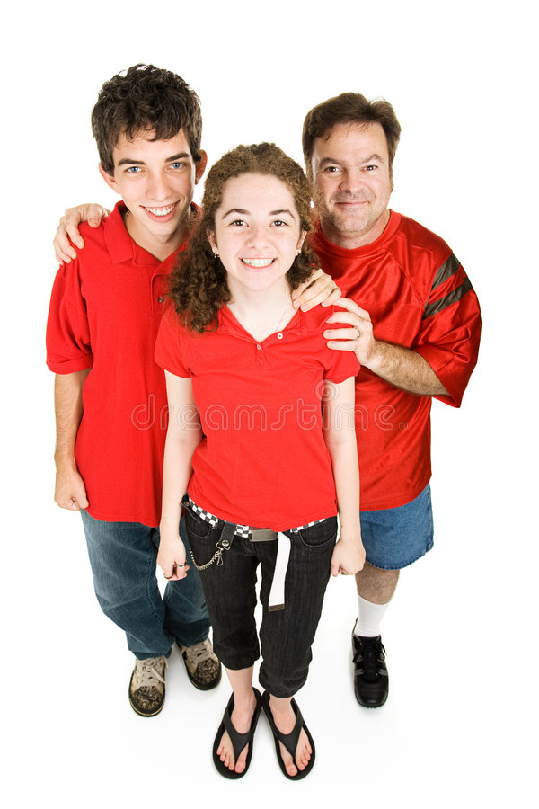 Download Teens And Dad In Red Stock Images - Image: 6440694