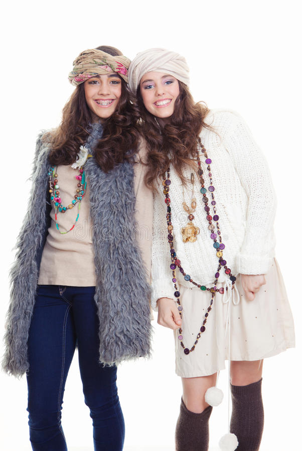 Teens fashion accessories stock images